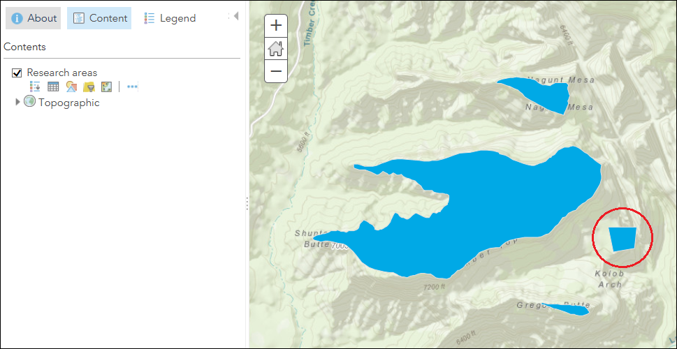 The newly added feature is preseved in the ArcGIS Online Map Viewer