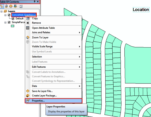 The picture shows how to open Layer Properties dialog box