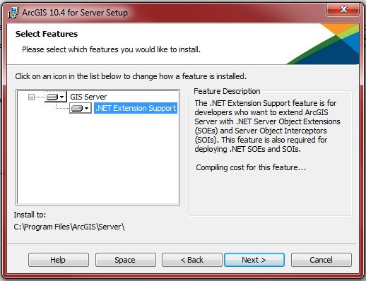 This is the photo of the installation setup of ArcGIS for Server