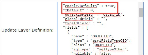 Change the enableZDefaults parameter to true, and set the zDefault parameter to 0