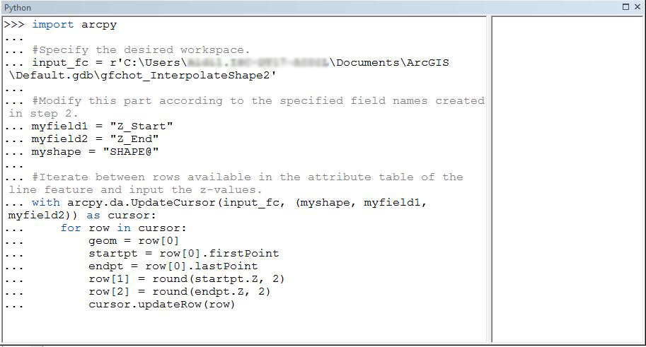 The image of the sample script.