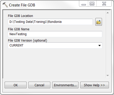 An image of the Create File GDB dialog box.