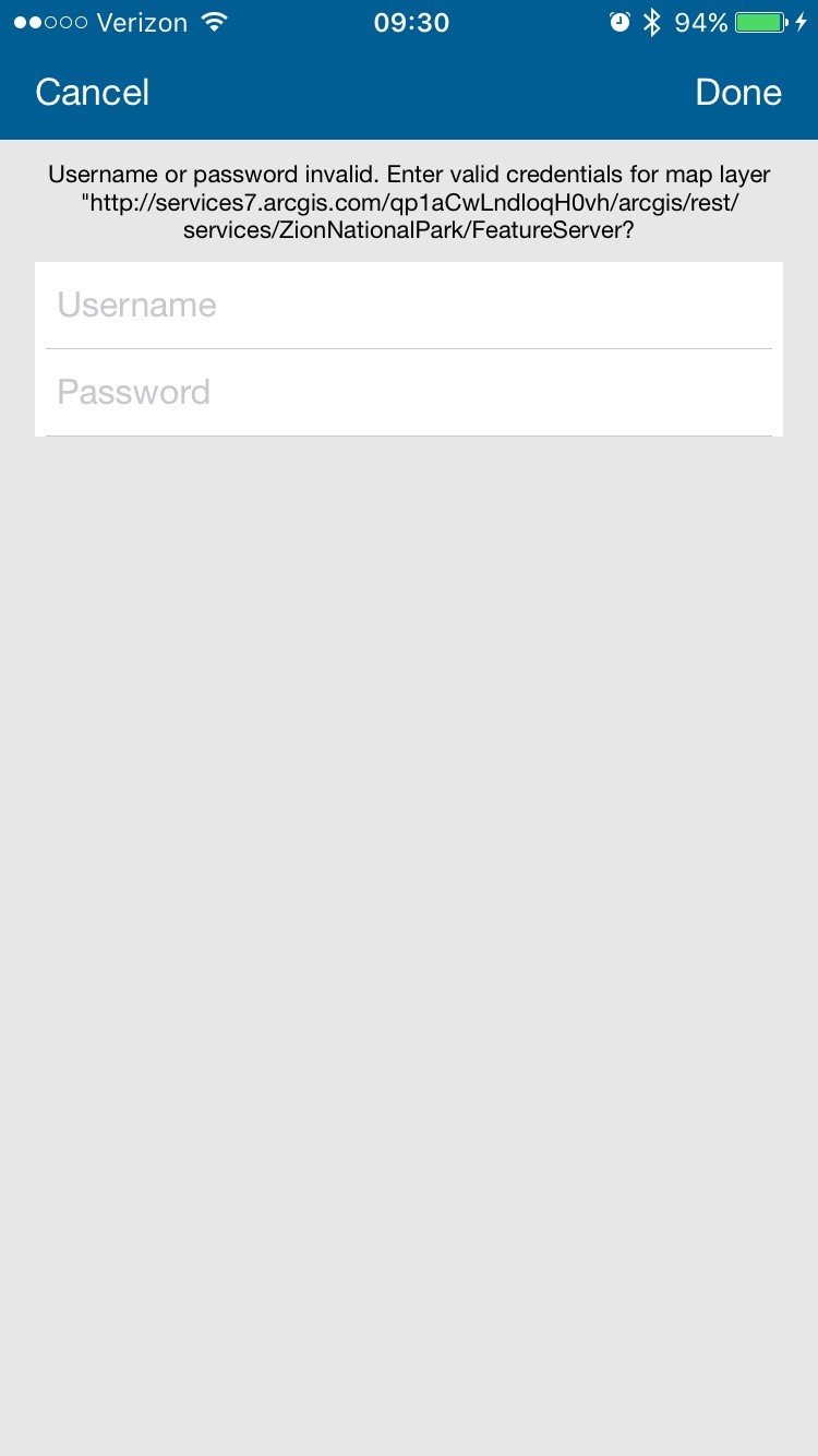 image of log in screen on a mobile device