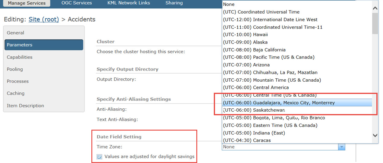 How To: Set the UTC time field to follow a specific time zone