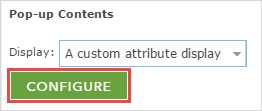 Click the CONFIGURE button