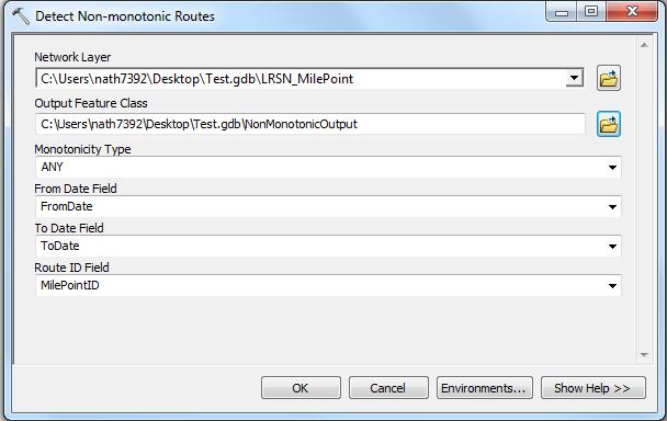 Detect Nonmonotonic Routes GP Tool