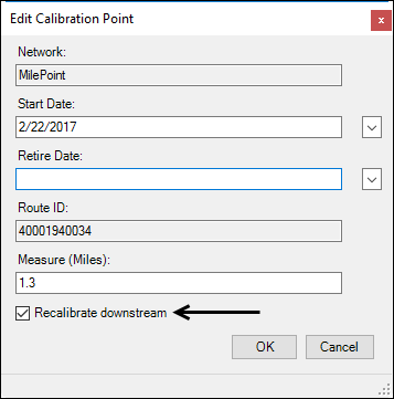 Edit Calibration Point