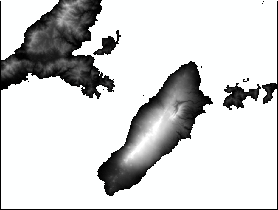An image of the mosaic dataset with defined and built overviews.