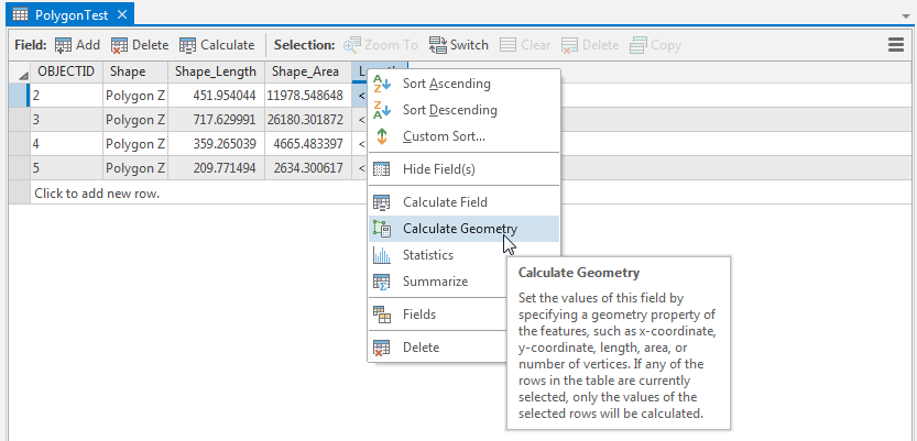 How To: Calculate geometry in ArcGIS Pro