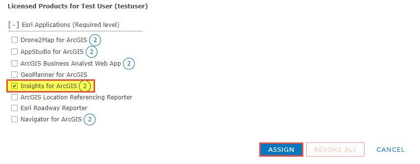 Assign option
