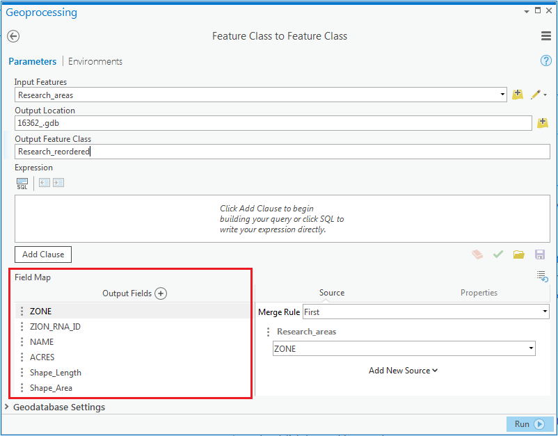 image of Feature Class to Feature Class dialog box