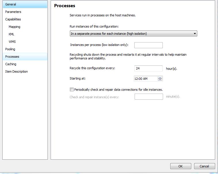 Service Editor window
