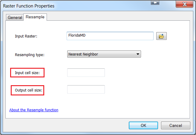 An image of the Raster Function Properties dialog.