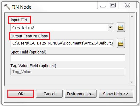 An image of the TIN Node tool dialog.