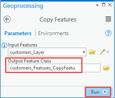 An image of the Copy Features tool.