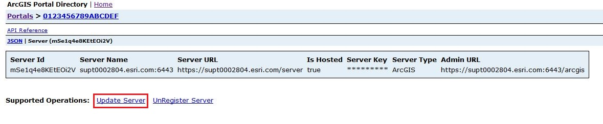 Image of the Server ID page.