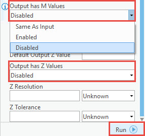 Z and M values disabled