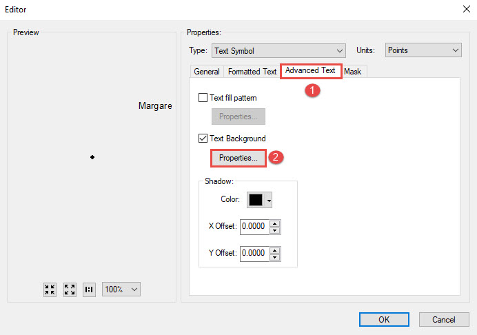 The picture shows the Editor dialog box