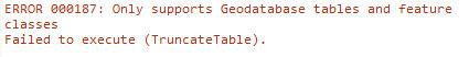 Screenshot of Error 000187 in the Python window.