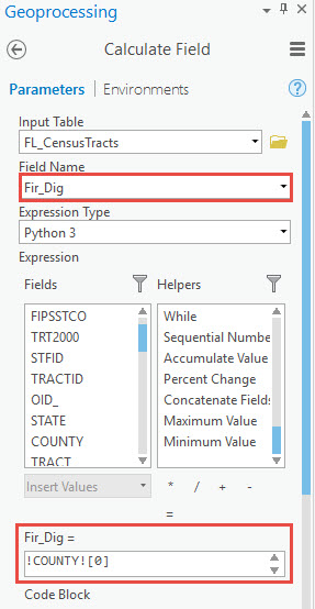 Expression for first digit
