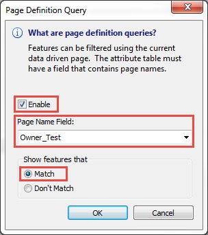 Page Definition Query