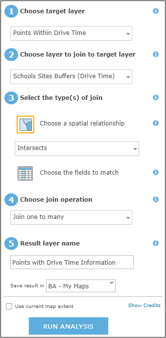 image of the Join Features pane