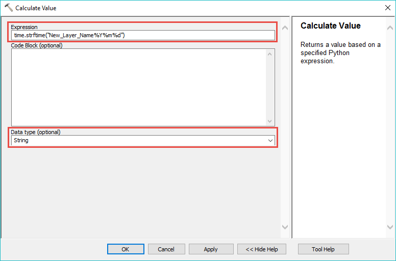 Calculate Value expression.