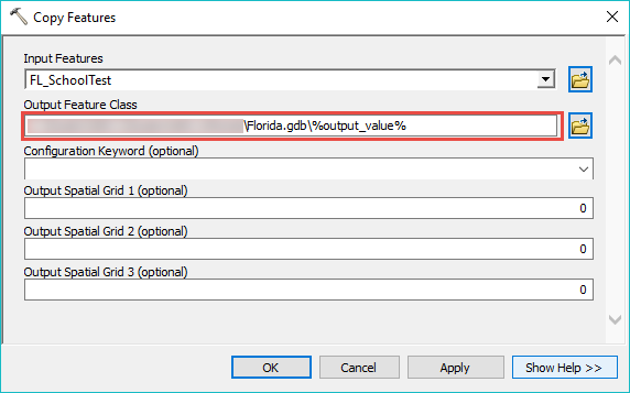 Add %output_value% in the output name