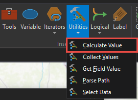 Click Utilities and click Calculate Value.