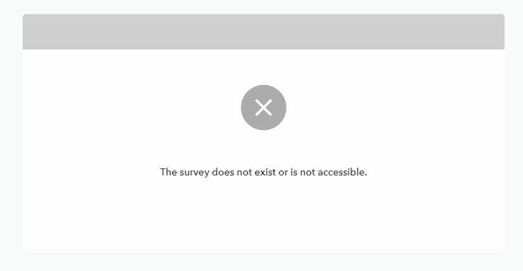 The survey does not exist or is not accessible.