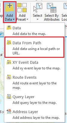 Add Data tool