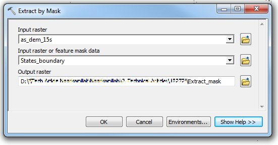 The Extract by Mask dialog box.