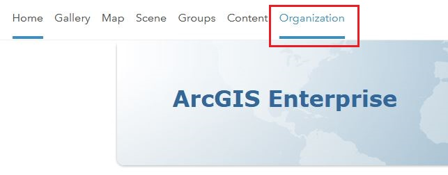 The image of Portal for ArcGIS Home page.