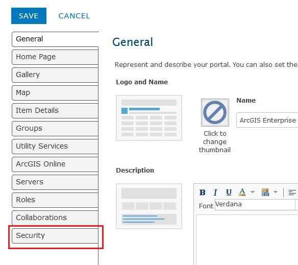 The image of the settings page.