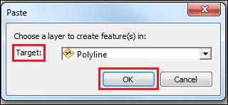 Paste dialog box