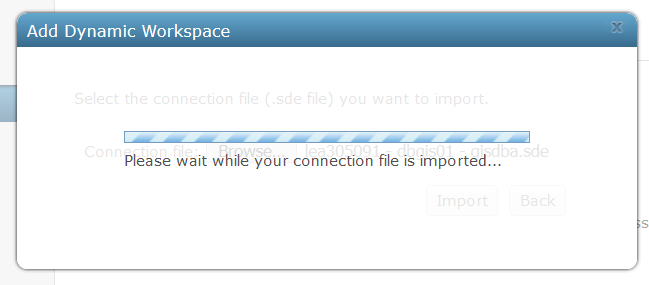 User-added image of dynamic workspace loading dialog box