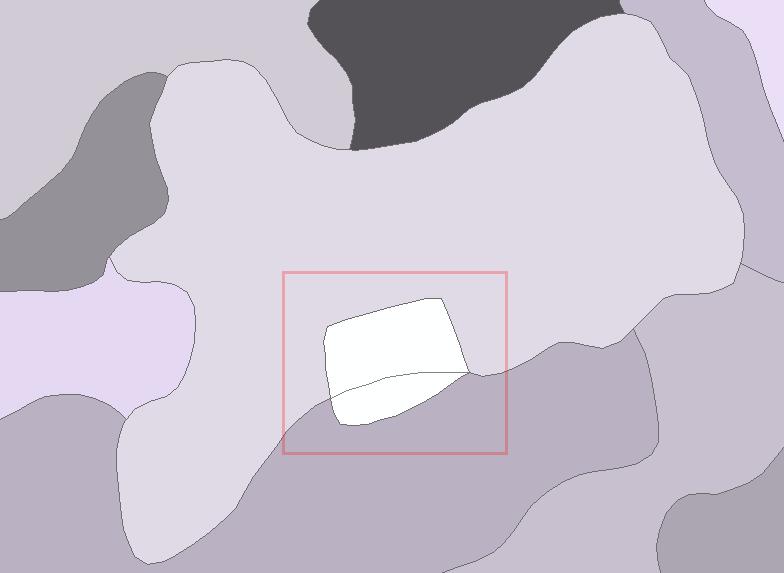 Empty gaps between polygons