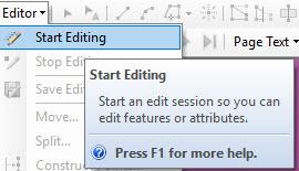 Start editing option