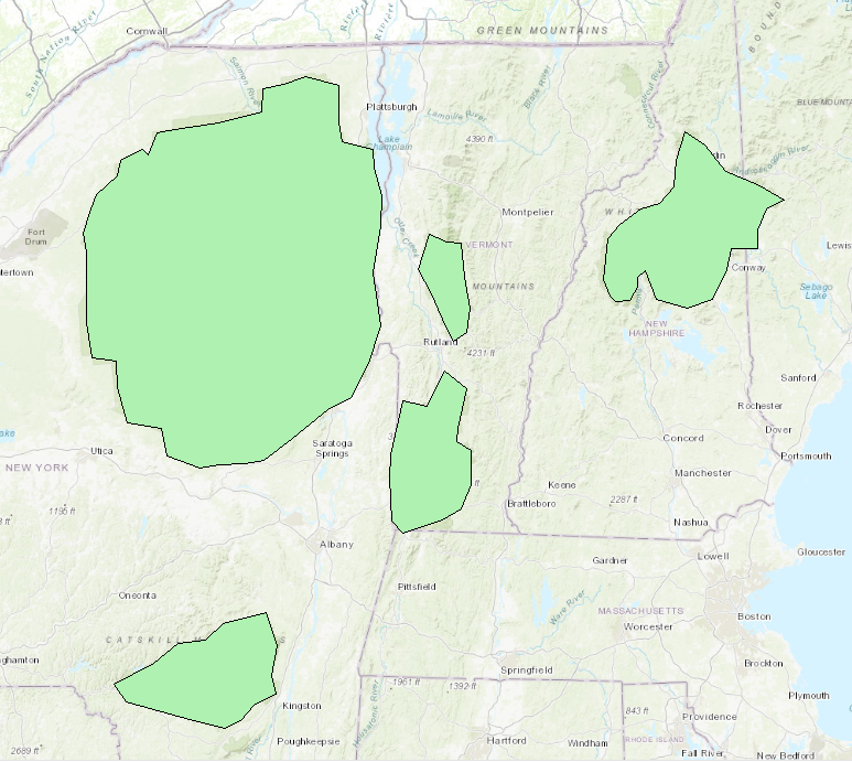 This is the polygons of forest reserve areas.