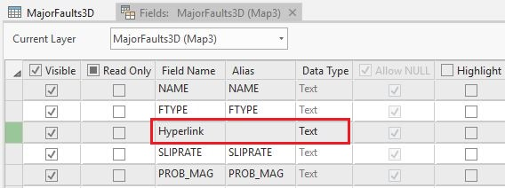 Image showing adding field name and data type for the new field.