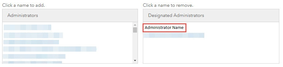 Screenshot of Multifactor Authentication with the member name under Designated Administrators highlighted.