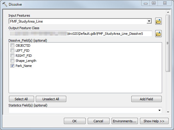 An image of the Dissolve dialog box.