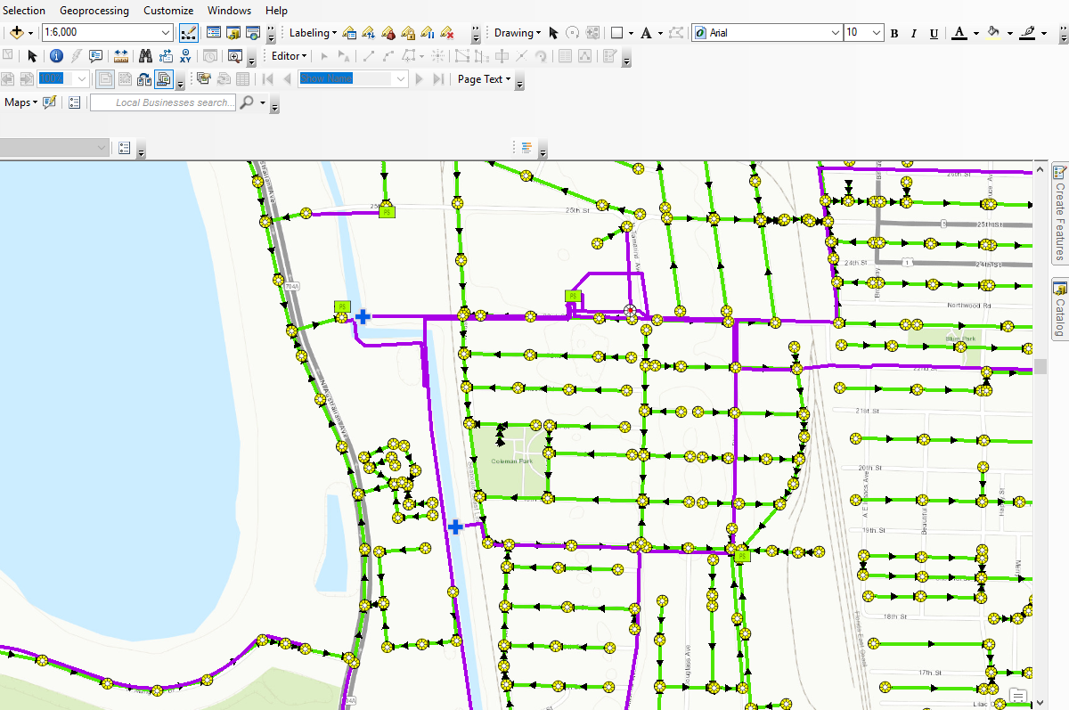 Map service URL opened in ArcMap