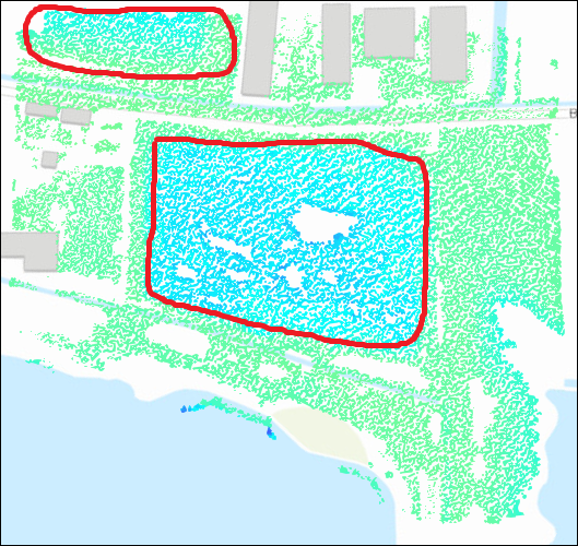 Point cloud data with negative elevation values in ArcGIS Online Scene Viewer