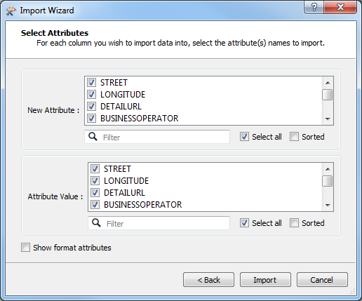 An image of the Import Wizard dialog box.