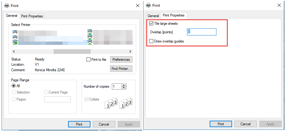 Print option in ArcGIS Pro