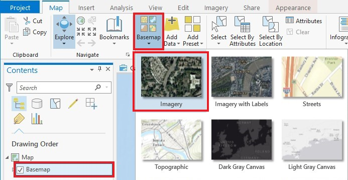 Add points to basemap arcmap