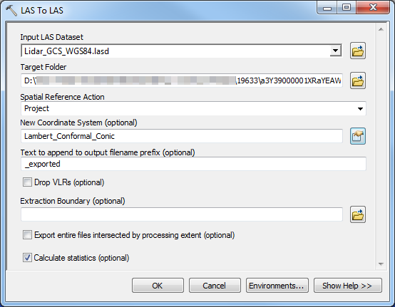 Problem: The LAS Dataset To Raster tool fails to execute