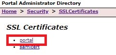 Image of portal path selection in Portal Administrator Directory