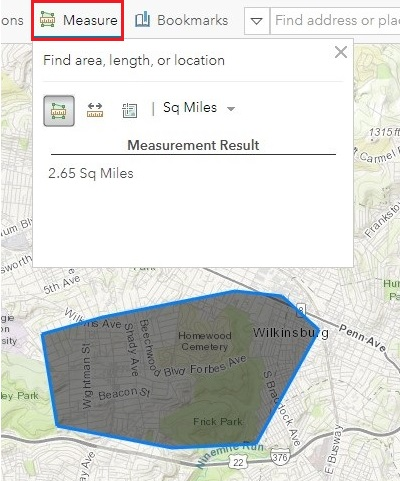 FAQ: Is it possible to calculate area in ArcGIS Online?